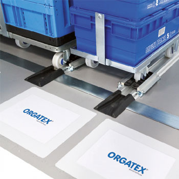material provision with floor trolleys